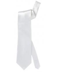 Белый сатиновый галстук