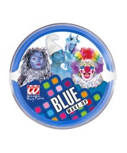 Масляный театральный грим синий, шайба 25 гр (Италия)