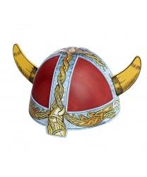 Шлем и красный меч викинга