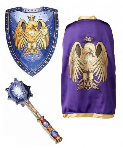 Рыцарский набор Золотой орел: плащ, булава, щит (Дания)