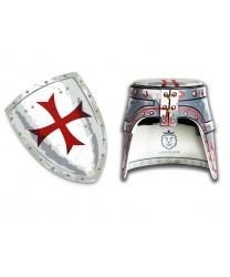 """Рыцарский щит и шлем """"Мальтийский крест"""""""