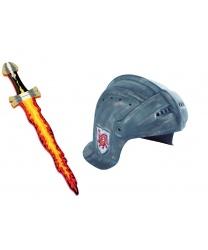 """Рыцарский шлем и меч """"Янтарный дракон"""""""