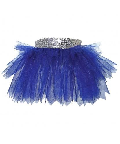 Юбка-пачка, синяя с блестками (детская): юбка (Польша)