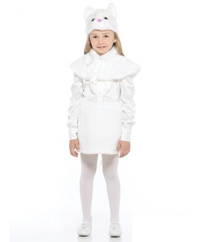 Кошка белая: шапочка, юбка, пелерина (Россия)