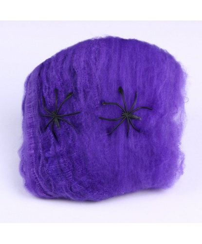 Искусственная паутина 4 м2, цвет фиолетовый (Германия)