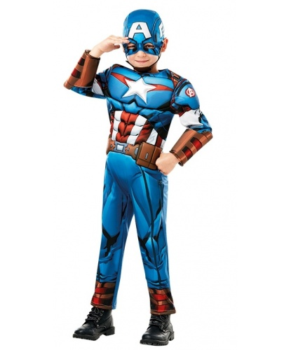 Костюм Капитан Америка: комбинезон, маска (Германия)