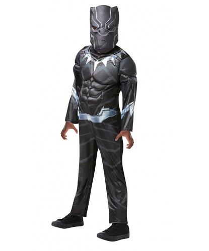 Костюм супергероя Черная пантера: комбинезон, маска (Германия)