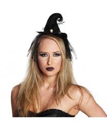 Мини-колпак ведьмы с паучком и черепом