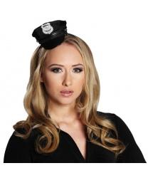 Мини-фуражка полицейского на ободе