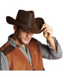 Ковбойская шляпа (имитация под кожу)