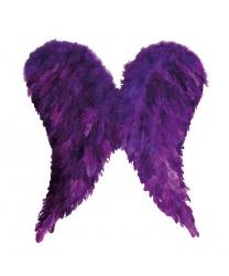 Фиолетовые крылья из перьев