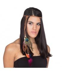 Повязка с перьями в индейском стиле