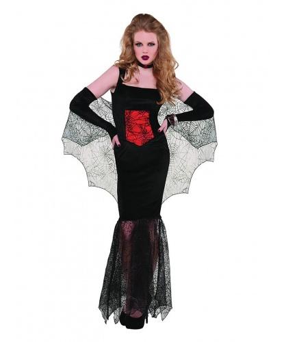 Костюм Королевской Вампирши: платье, перчатки с накидкой, чокер (Германия)