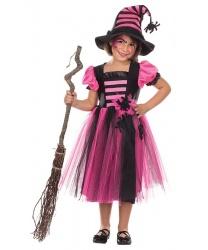 Костюм Хэллоуиновской ведьмочки: платье, колпак (Германия)