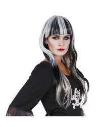 Черно-белый парик с челкой