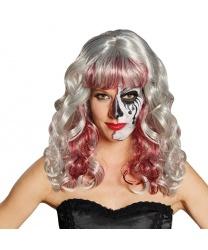 Женский парик с пепельными волосами : пепельный, серый, красный (Германия)