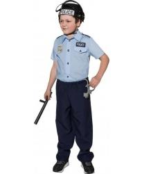 Детская рубашка полицейского (голубая)