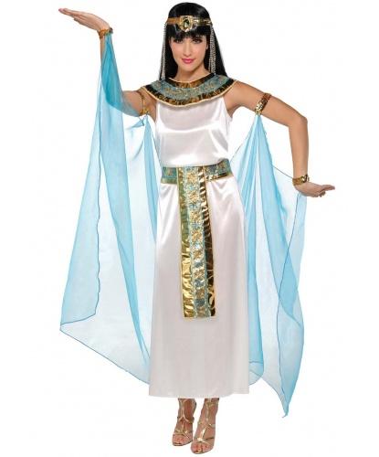 Взрослый костюм Клеопатры: платье, головной убор, воротник, накидка с браслетами (Германия)