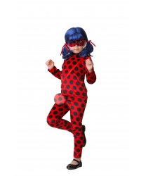 Детский костюм Леди Баг: брюки, кофта, кошелек, парик, маска (Россия)