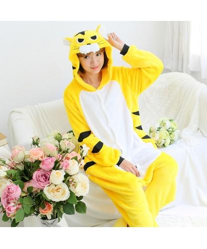 Кигуруми Желтый тигр: комбинезон с капюшоном (Китай)