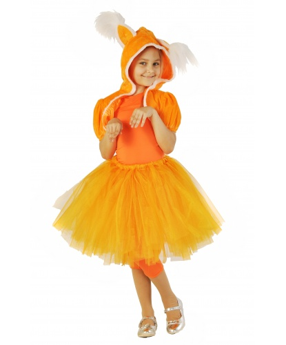 Костюм лисички: комбинезон, юбка-пачка, болеро с капюшоном, хвост (Украина)