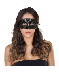 Черная маска с блестящей паутиной