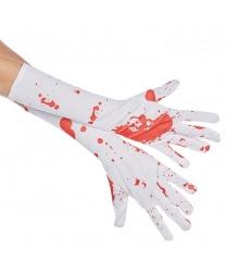 Белые окровавленные перчатки