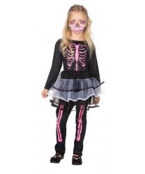 Костюм скелета на девочку