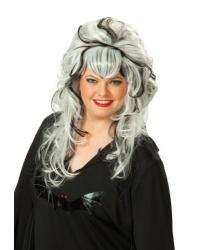 Черно-белый парик с начесом