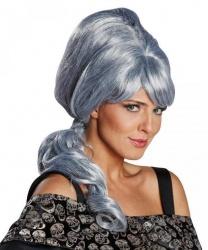 Серый парик с хвостиком