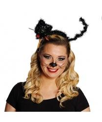 Кошачий ободок на Хэллоуин