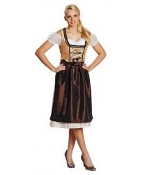 Коричневый баварский костюм