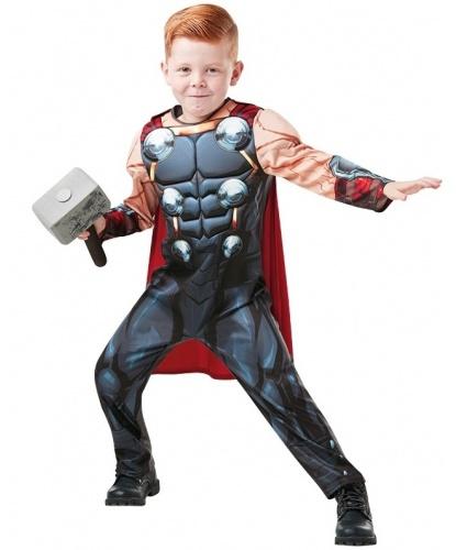 Детский костюм Тора: комбинезон, молот (Германия)