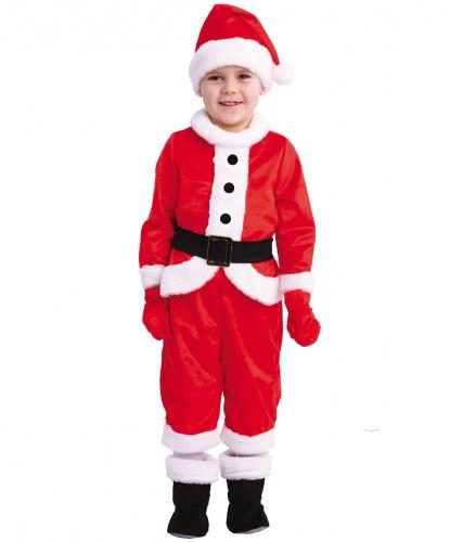 Костюм Малыш Санта: комбинезон, шапка, пояс, варежки, сапожки (Россия)