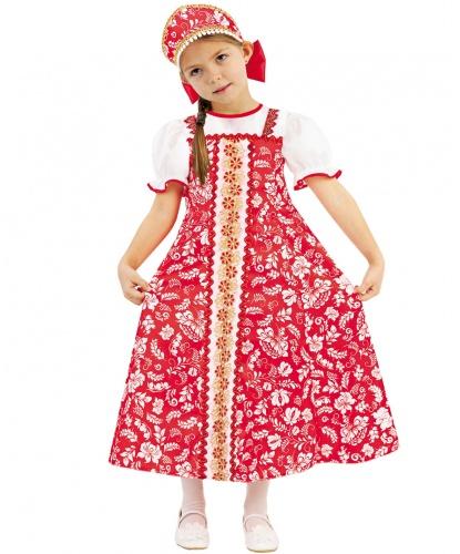 Детский костюм Аленка: платье, кокошник (Россия)