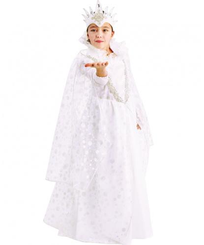 Детский костюм Снежная Королева: платье, корона (Россия)
