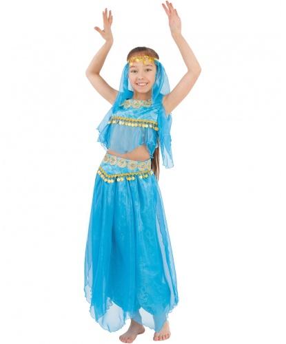 Детский костюм Восточная красавица: топ, шаровары, пояс, головной убор (Россия)