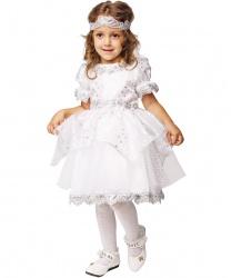 Детский костюм Снежинка: платье, повязка на голову (Россия)