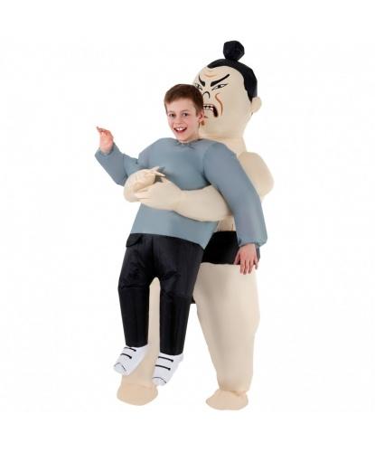 Надувной костюм Похищение сумоистом детский: комбинезон, батарейный блок (Великобритания)