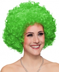 Зеленый кудрявый парик