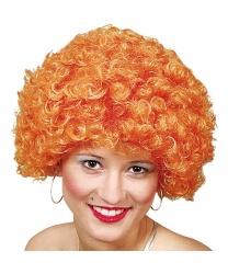 Оранжевый кудрявый парик