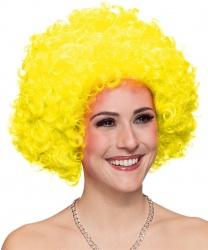 Желтый кудрявый парик