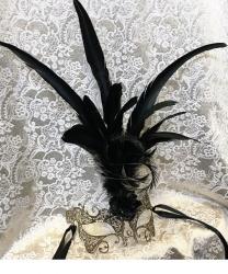 Металлическая маска Ciuffo золотая