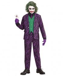 Детский костюм Джокер: пиджак со вшитой жилеткой, брюки, галстук (Италия)