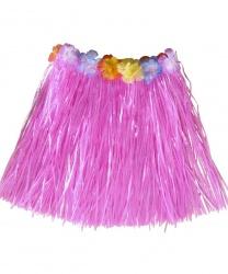 Розовая гавайская юбка (детская)