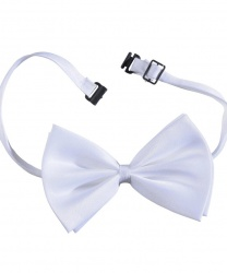 Бабочка-галстук белая