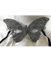 """Кружевная маска """"Бабочка"""", серебряная"""