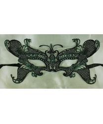 Кружевная маска бабочки, черно-зелёная