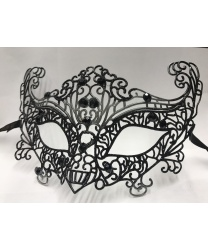 Карнавальная, ажурная маска (черная)
