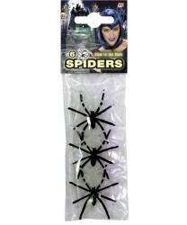 Набор из 6 маленьких пауков